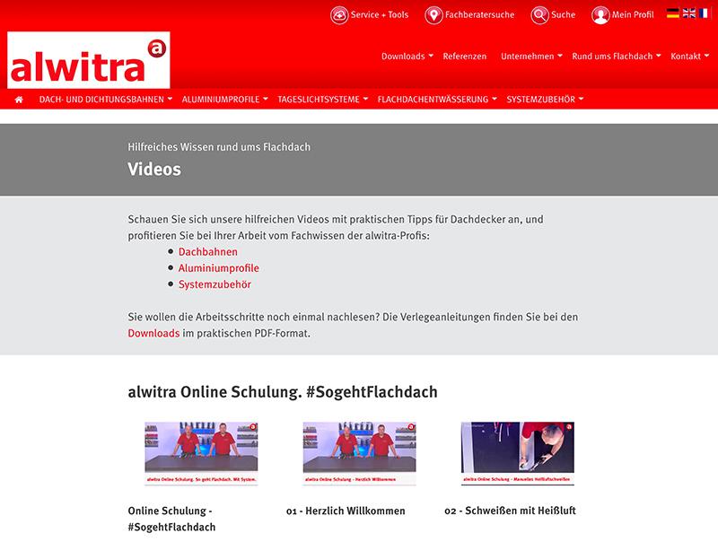 Das neue Schulungsvideo steht sowohl auf der alwitra Homepage als auch im alwitra YouTube-Kanal zur Verfügung. Foto: alwitra