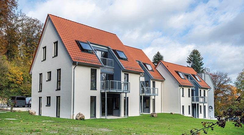 Attraktive Mehrfamilienhäuser in Holzbauweise mit MagnumBoard OSB. Bildnachweis: SWISS KRONO │ Foto: Volker Neumann
